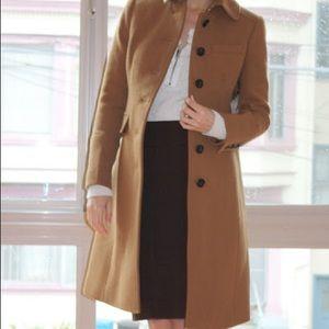 J Crew Double Cloth Metro Thinsulate Wool Coat 0P